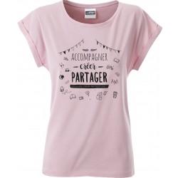 T-shirt femme BIO décontracté rose pastel